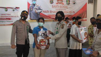 Photo of Rayakan Hari Jadi ke-74,  RS Bhayangkara Denpasar Gelar Drive Thru Rapid Tes