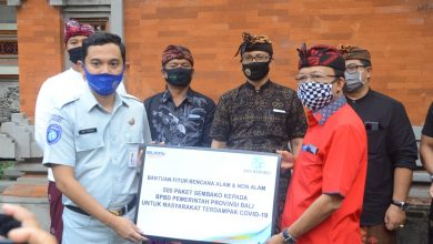 Photo of Gubernur Koster Terima Bantuan Bahan Pangan dari Jasa Raharja