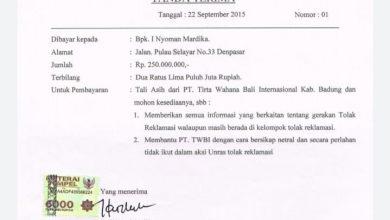 Photo of Muncul Tanda Terima Rp 250 Juta, Aktivis Torek Membantah