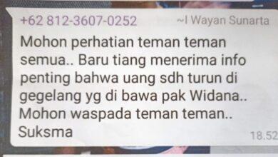 """Photo of Grup WA Relawan Dana-Dipa """"Bocor"""""""
