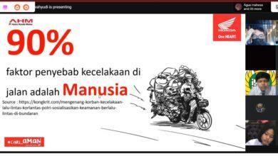 Photo of Webinar Safety Riding #Cari_Aman Astra Motor Bali Bidik SMP PGRI 2 Denpasar