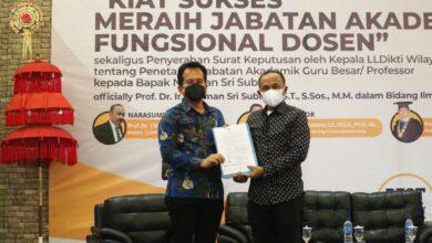 Photo of Rektor Undiknas Sandang Gelar Profesor