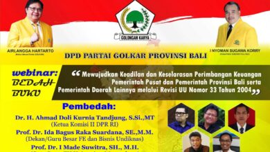 Photo of Golkar Gelar Bedah Buku Perjuangkan Nasib Bali