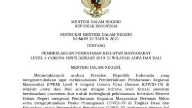 Photo of Sah, PPKM Darurat Ganti Istilah Jadi PPKM Level 4