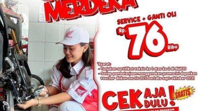 Photo of Tunjukkan Kartu Vaksin, Servis Ganti Oli Cuma Rp 76 Ribu