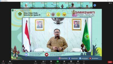 Photo of Hari Saraswati Nasional Kuatkan Moderasi Beragama