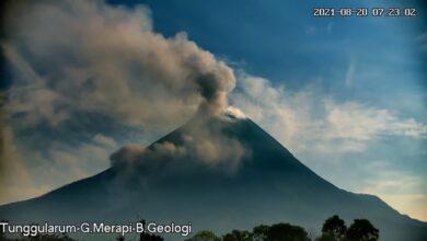 Photo of Merapi 20 Kali Muntahkan Awan Panas