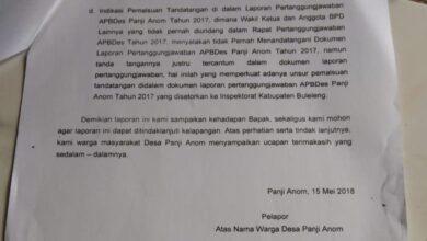 Photo of Macet, Dugaan Pungli dan Penyalahgunaan APBDes Panji Anom Disorot